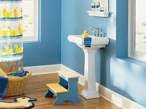 Nội thất nhà ở – Trang trí phòng tắm bé yêu!